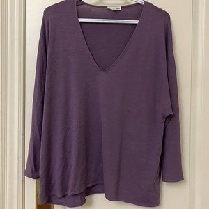 Wilfred Free - V Neck Purple Long Sleeve